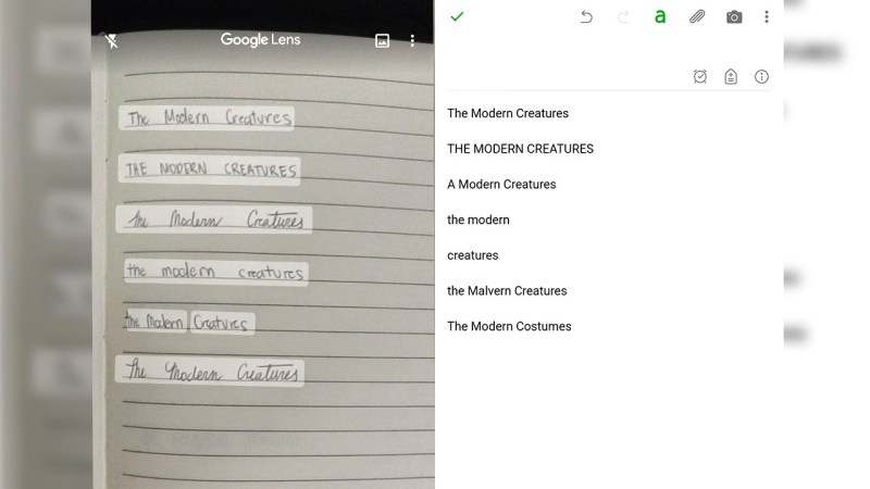 The Modern Creatures Google Lens