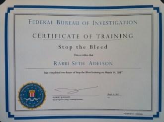 stop the bleed certificate