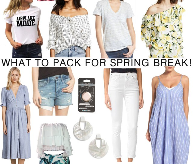 What To Pack For Spring Break  The Modern Savvy A Life And