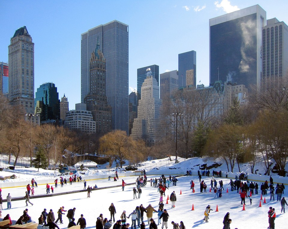 Ice skating at Wollman rink is one of the best things to do for christmas in NYC