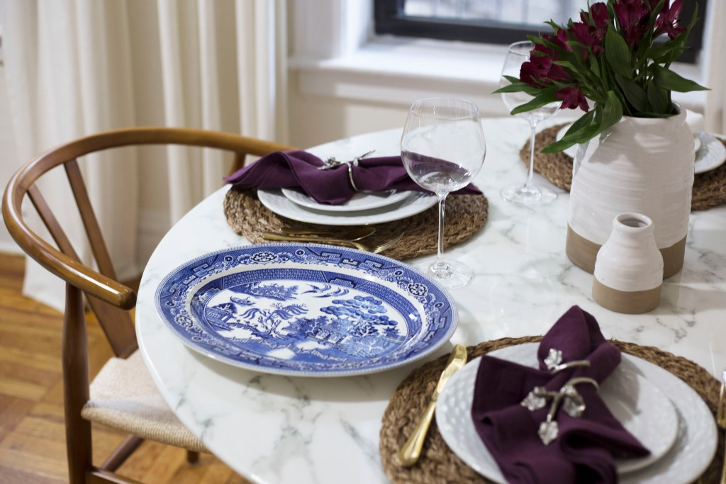 Bringing out my Blue Willow pattern plate.