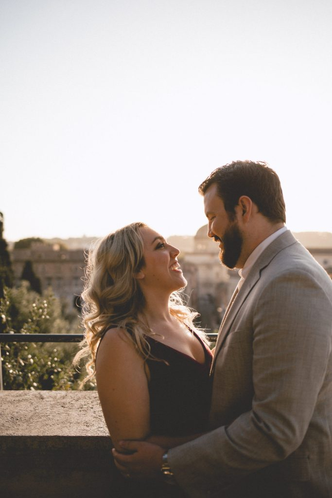 So happy celebrating our love together in Rome.