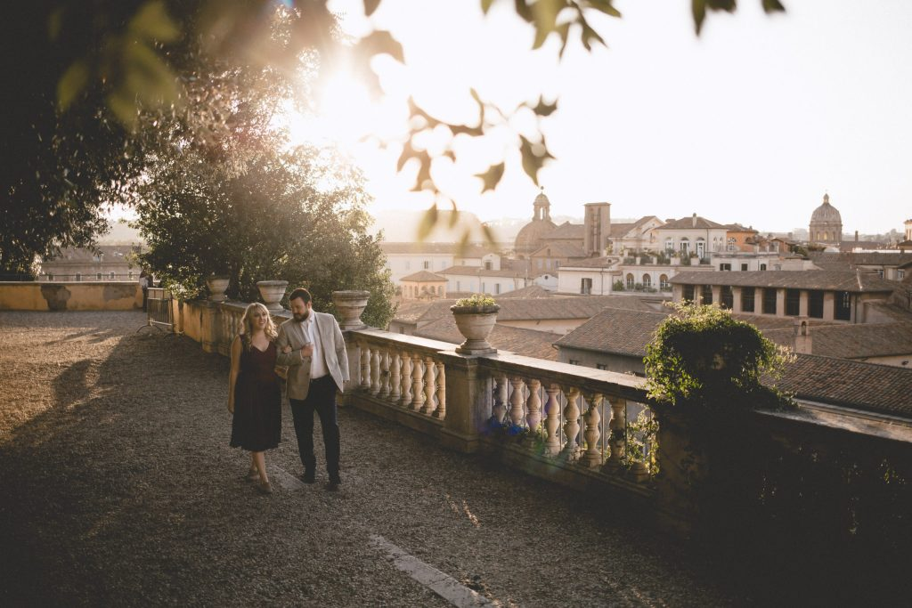 Us celebrating our love in a photoshoot in Rome