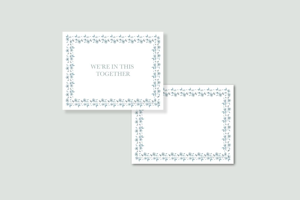 We're in this together Encouragment Card