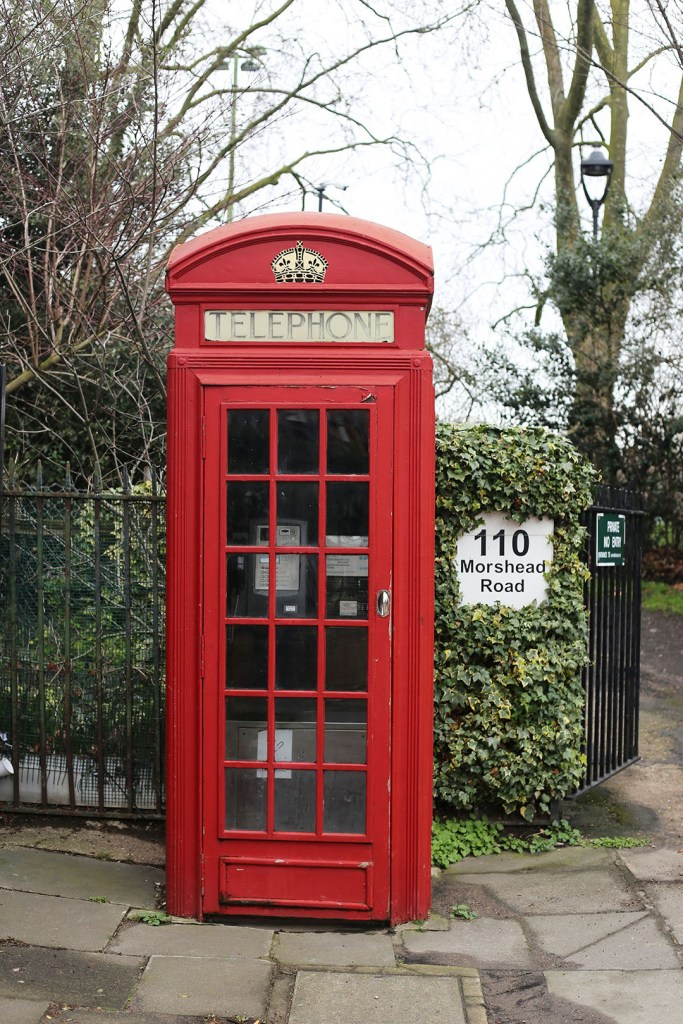 A red phone booth in London