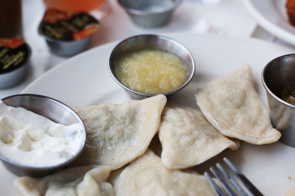 Steamed Pierogi's, the authentic way to enjoy Ukrainian food!