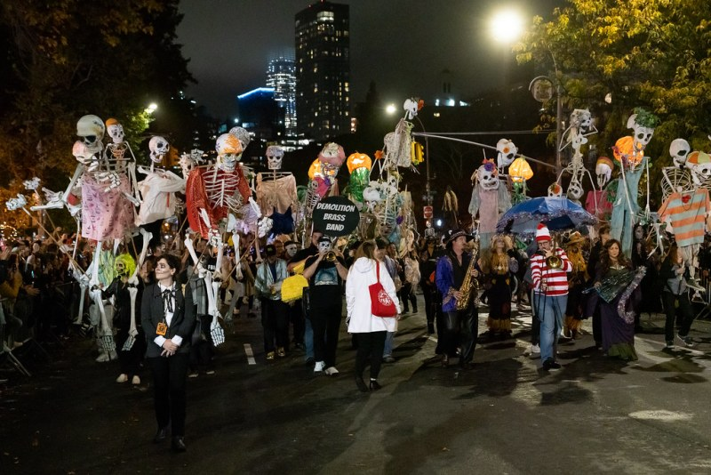 The Village Halloween Parade in years past.