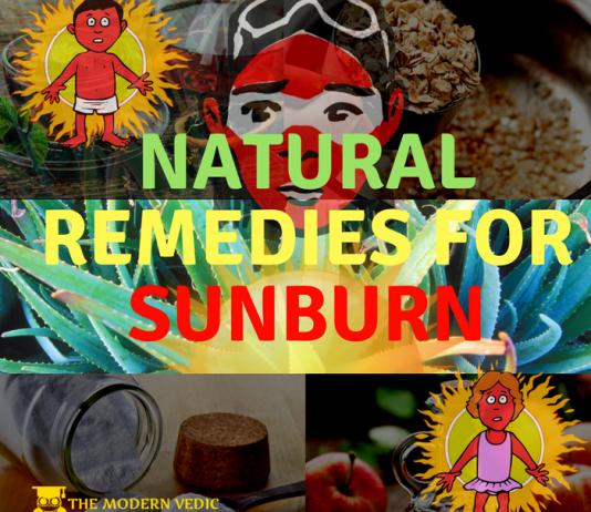 sun-burnt skin