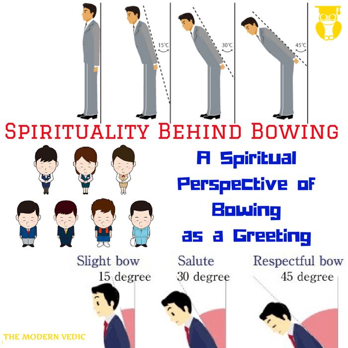 What is the spiritual perspective of greeting someone by bowing m4hsunfo