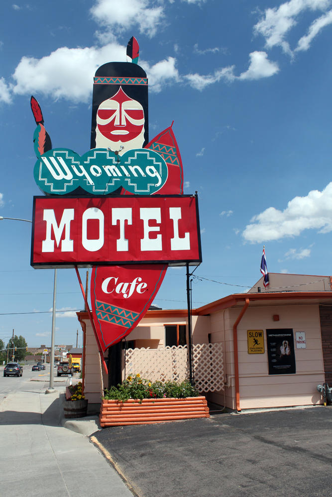 The Chief watches over the Wyoming Motel.