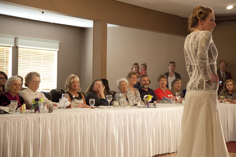 At one of their recent monthly luncheons, the Geowives were entertained by a fashion show featuring local designers and models.