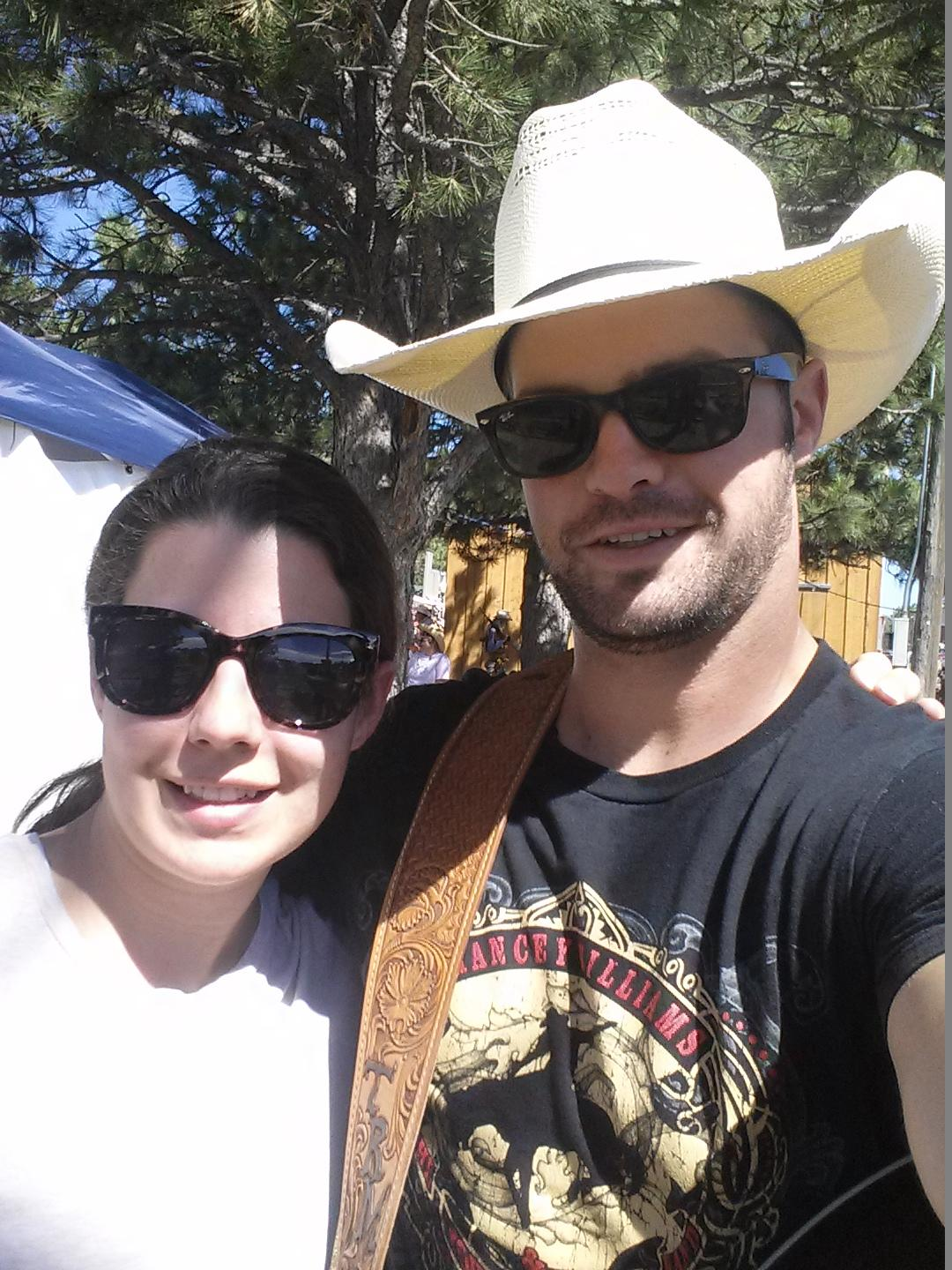 Our Membership Associate Moriah Hager with Wyoming country musician Tris Munsick.
