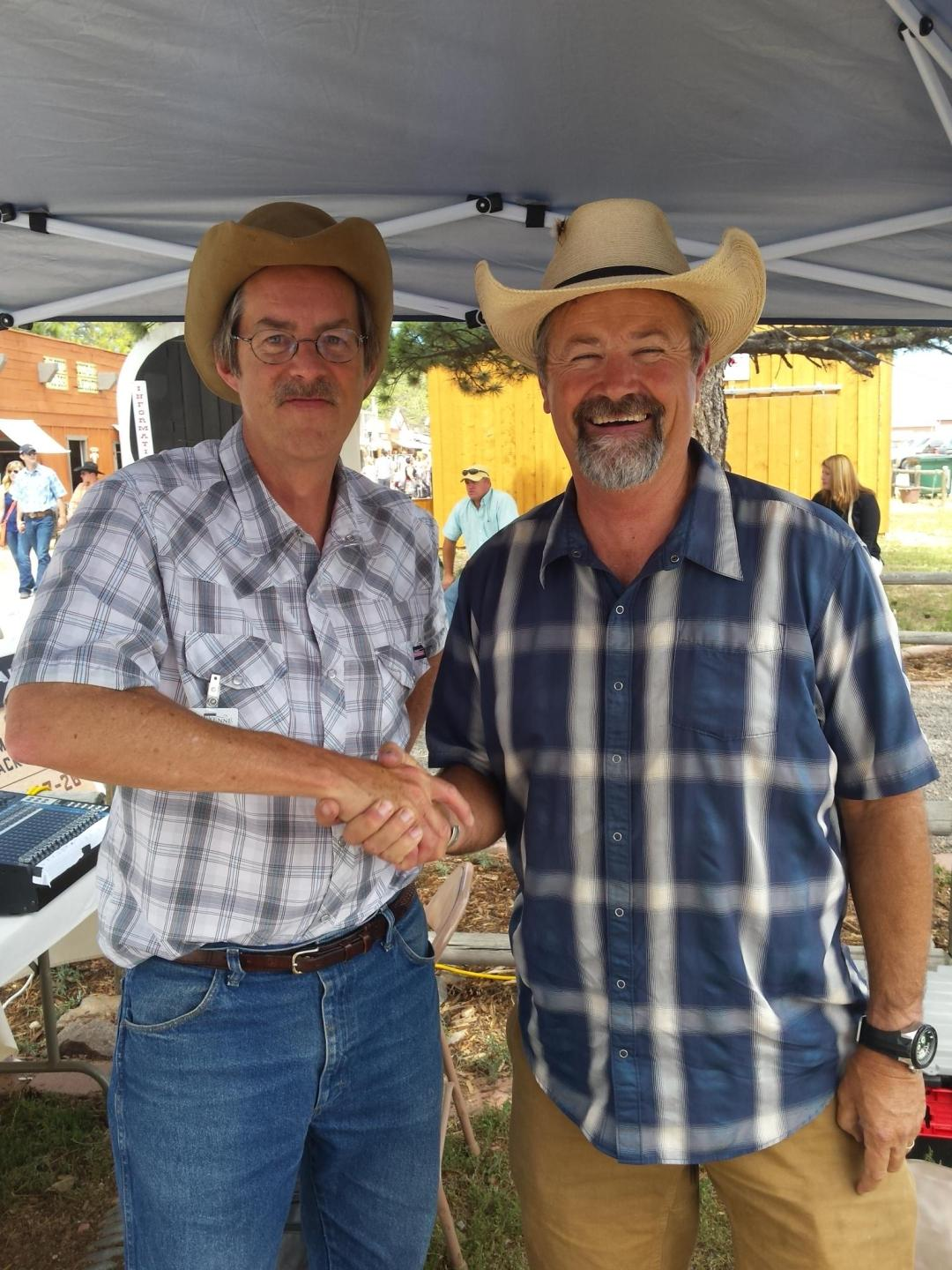 Grady Kirkpatrick with a long time listener and friend Wayne Welsh from Cheyenne.