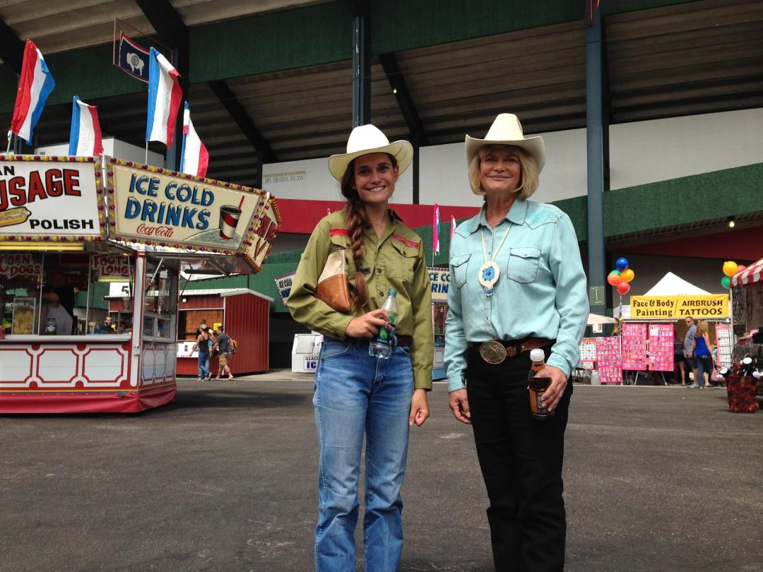 U.S. House Representative Cynthia Lummis and daughter Annaliese Wiederspahn enjoying Frontier Days.