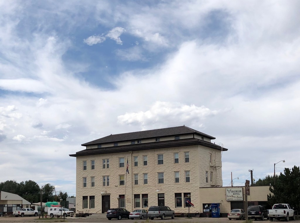 The Virginian Hotel in Medicine Bow, Wyoming.