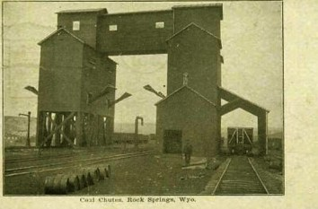 Coal Chutes, Rock Springs, 1908.