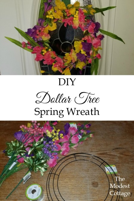 fd1ddeff22e9e The Dollar Tree of course. I pretty much can t make a craft project without  stopping there for supplies. Where else can you get a wire wreath ...
