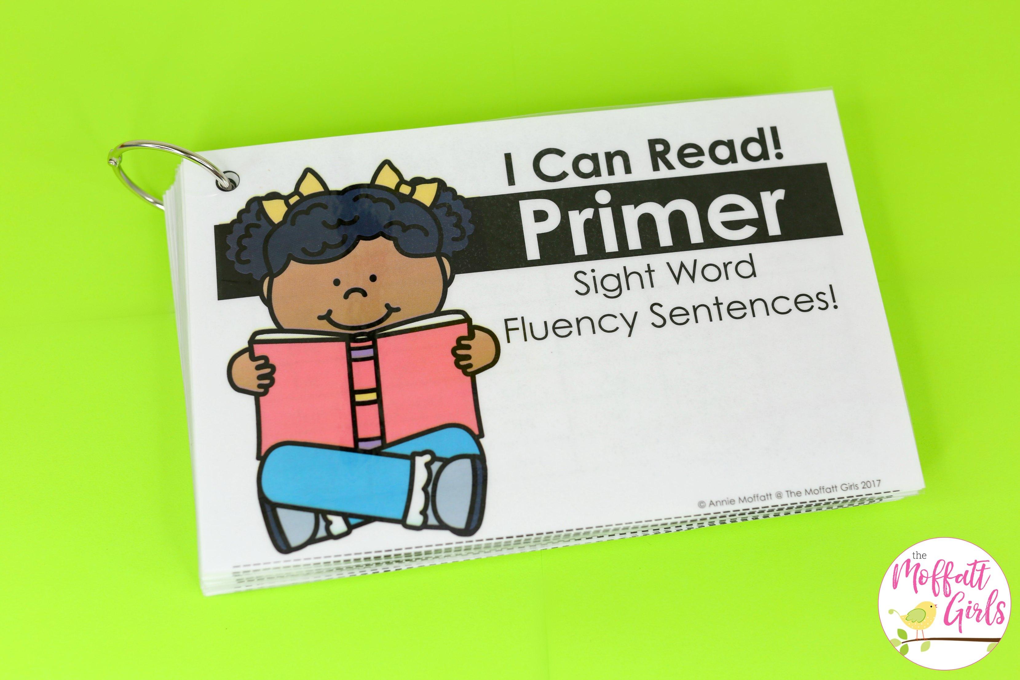Fluency Sentences Primer 1b