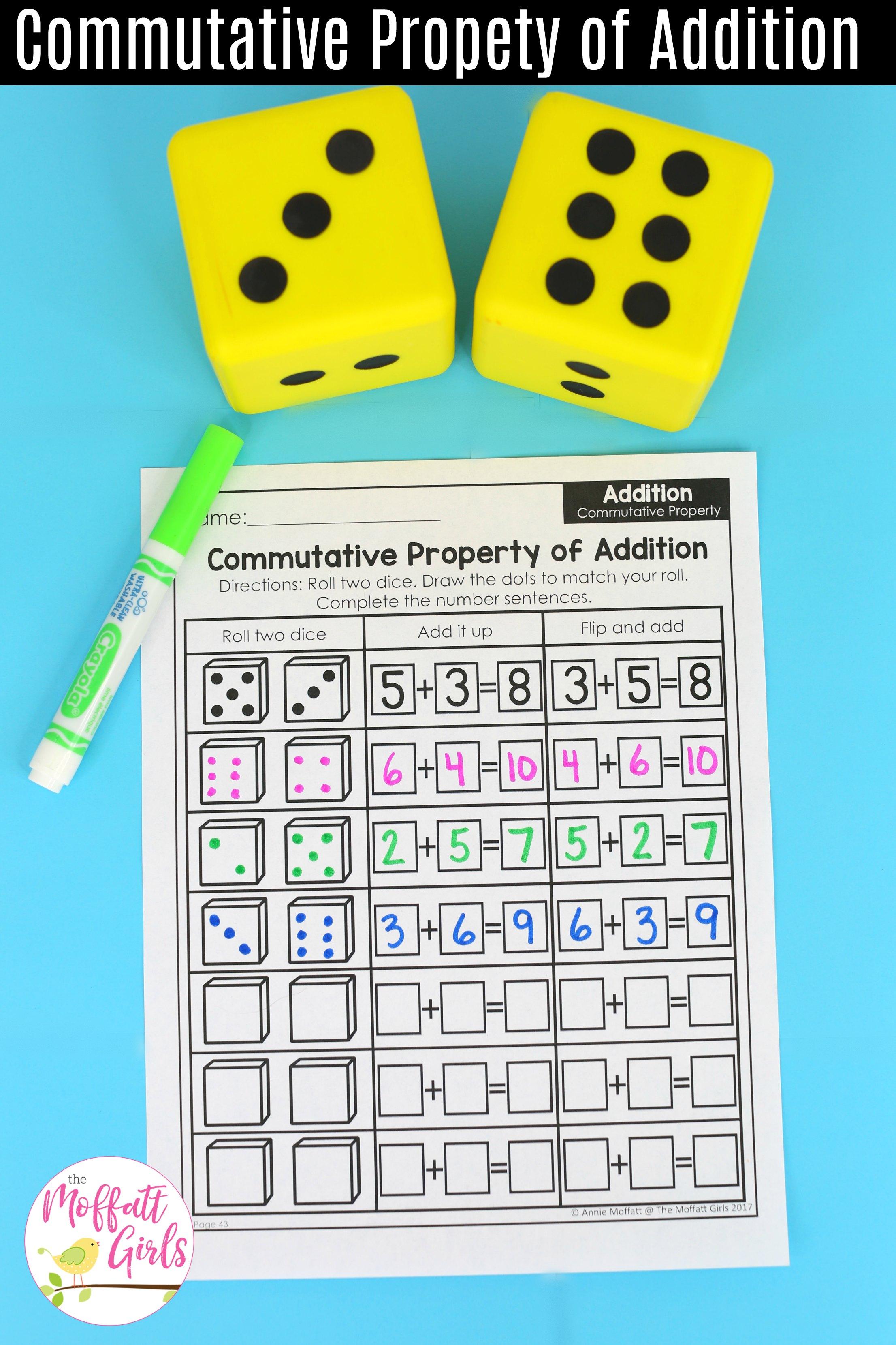 Commutative Property Of Addition No Prep 1b