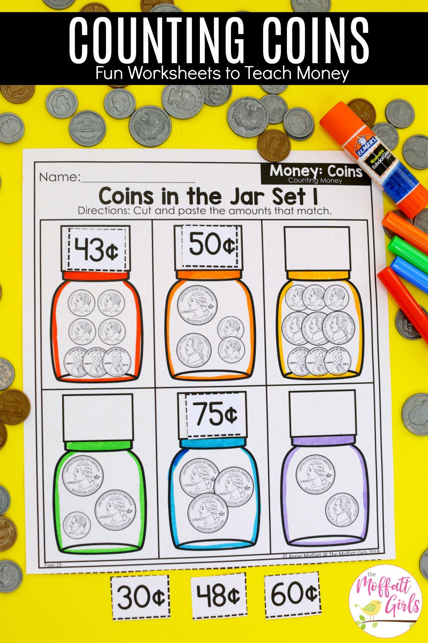 Money Math Worksheets
