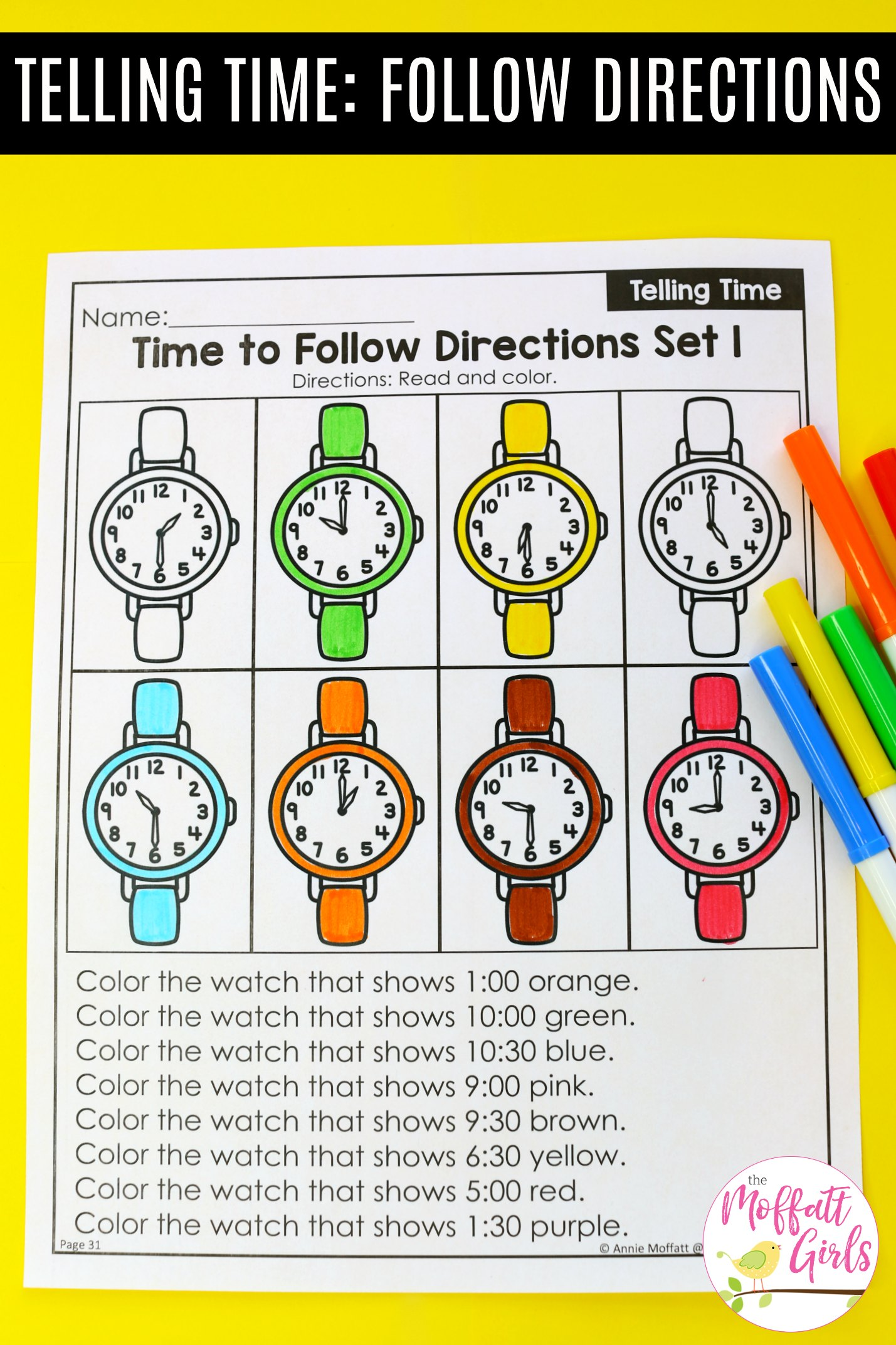 Telling Time Worksheets 5b
