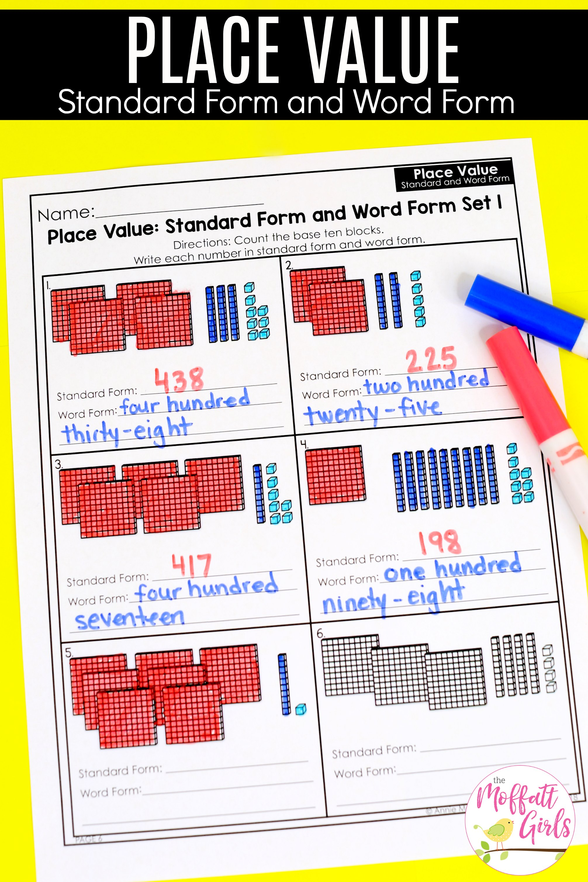 Place Value Standard Form And Word Form