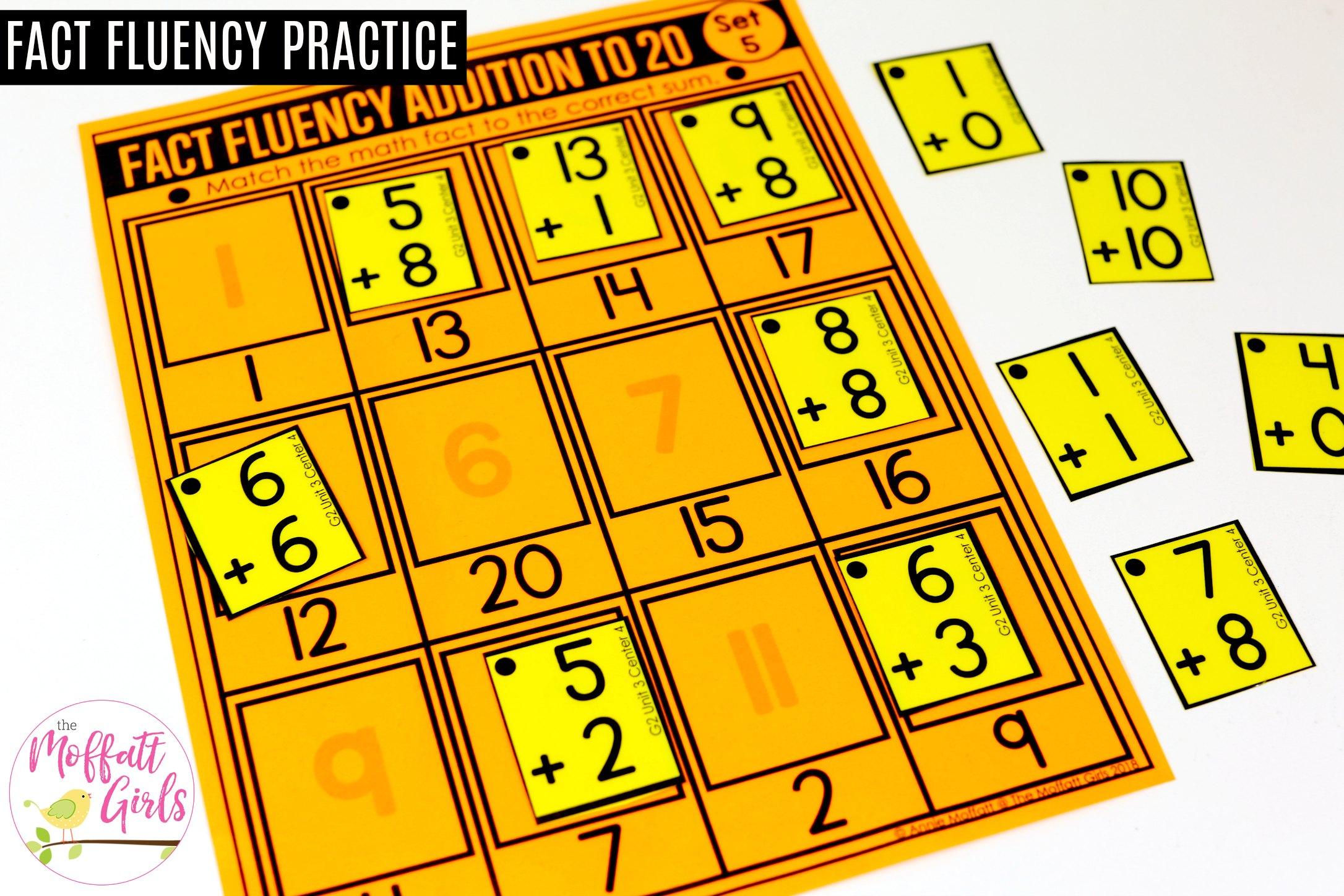 Match It Up Math Addition 4a