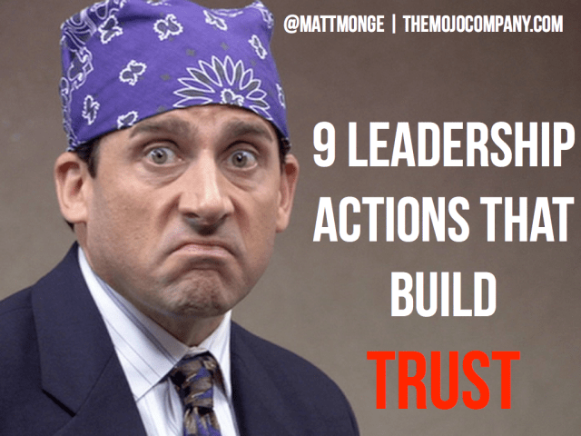 leadership actions that build trust