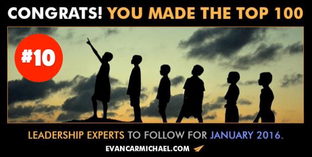 Top 10 Leadership Expert to Follow!