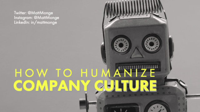 how to humanize company culture