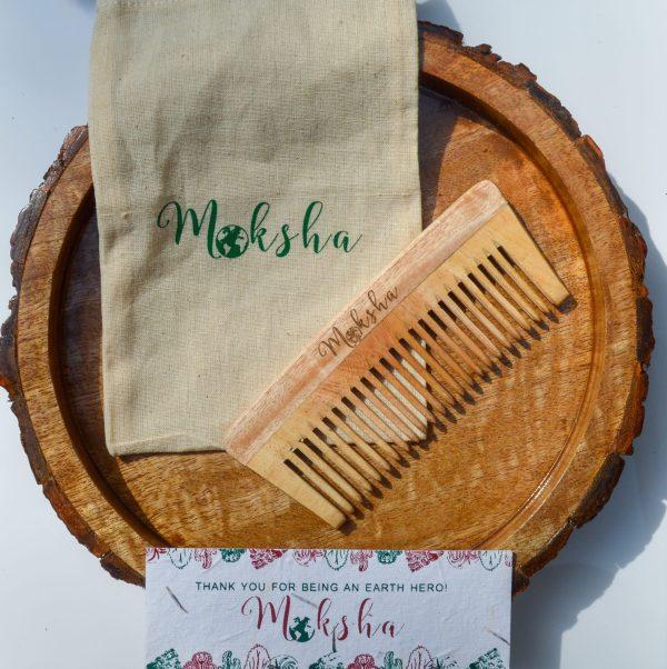 Jute pouch neem comb buy
