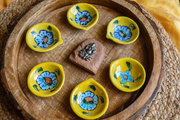 buy blue pottery diyas diwali