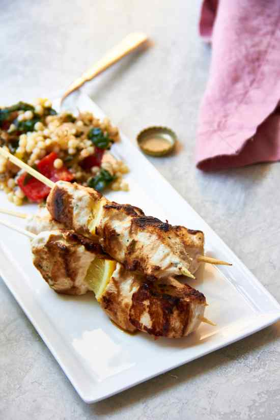 YOGURT Marinated Chicken Kebabs / Mia / Katie Workman / themom100.com