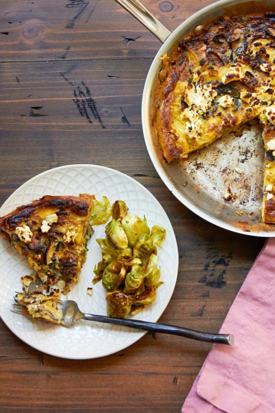 Caramelized Onion Frittata / Photo by Mia / Katie Workman / themom100.com