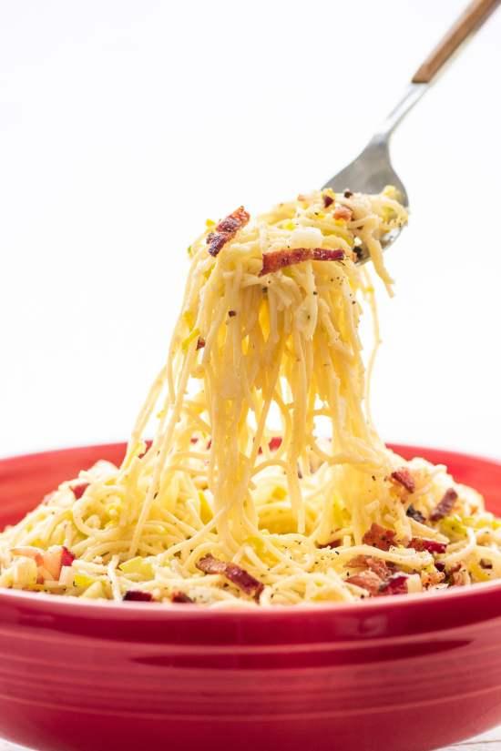 Thin Spaghetti Pasta Recipe / Katie Workman / themom100.com / Photo by Cheyenne Cohen