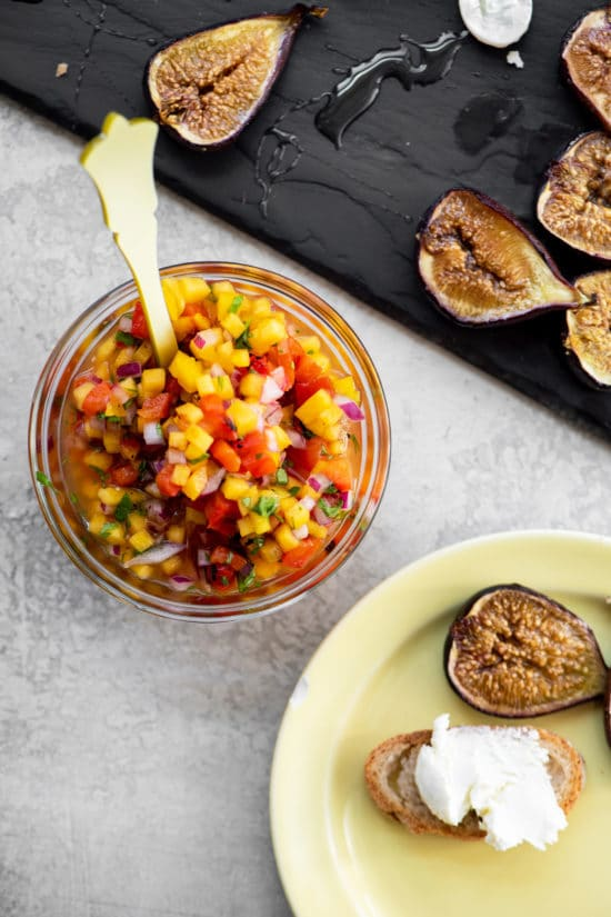 What to Serve with Peach Salsa / Katie Workman / themom100.com / Photo by Cheyenne Cohen