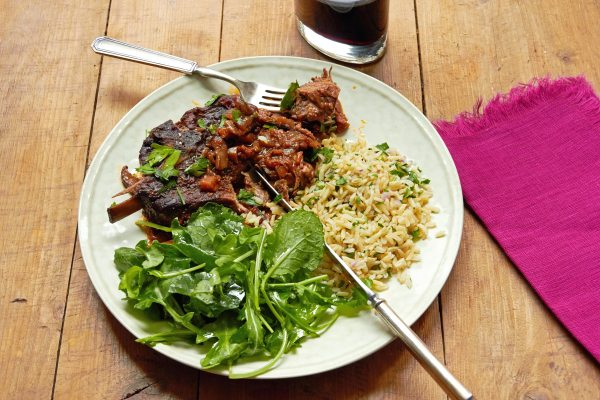 Mediterranean Braised Lamb Shoulder Chops