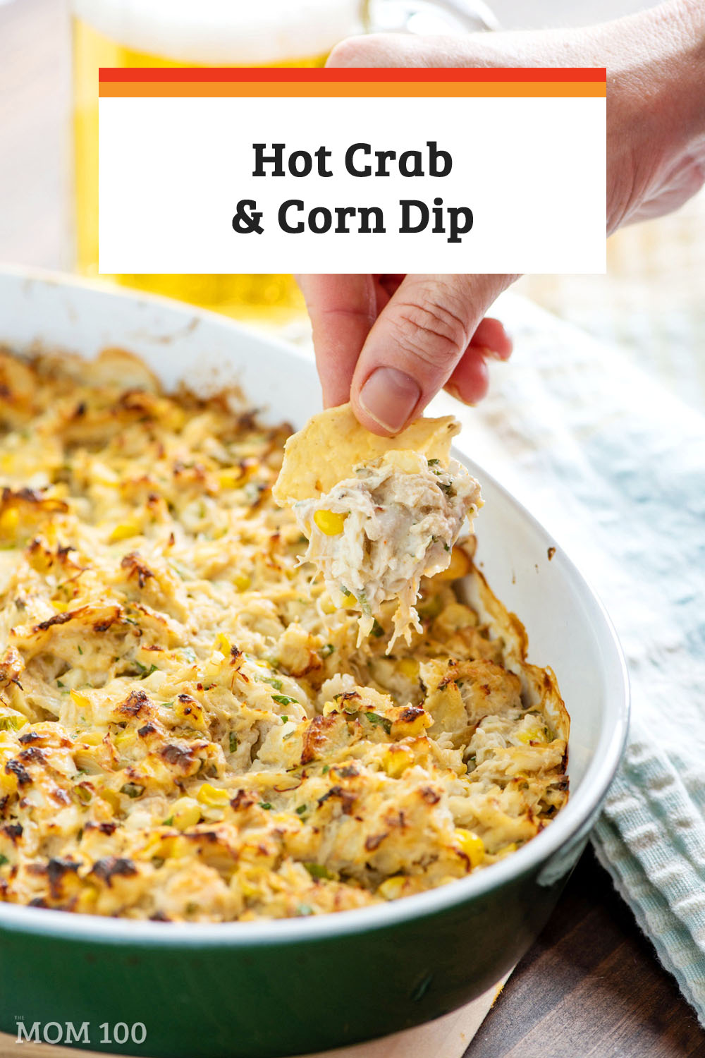 This Hot Crab and Corn Dip recipe works with whatever crab fits into your budget. A great start to a celebratory meal, or perfect for a cocktail party. #appetizer #hotdip
