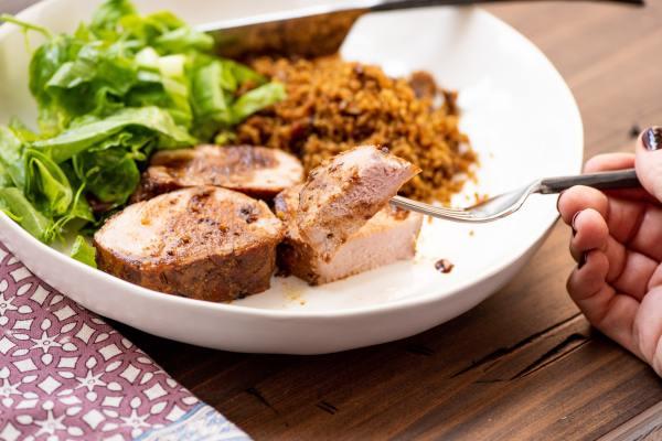 Dijon and Honey Crusted Pork Tenderloins / Photo by Cheyenne Cohen / Katie Workman / themom100.com