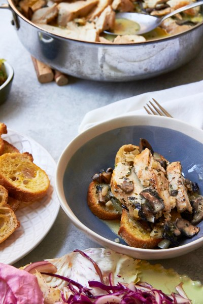 Chicken with Mushrooms in Cream Sauce / Mia / Katie Workman / themom100.com
