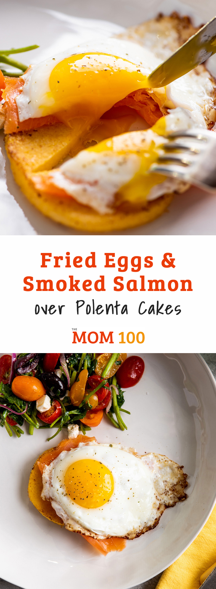 Fried Eggs and Smoked Salmon over Polenta Cakes. Anything good gets better when you put a fried egg on top and this brunch dish is no exception.