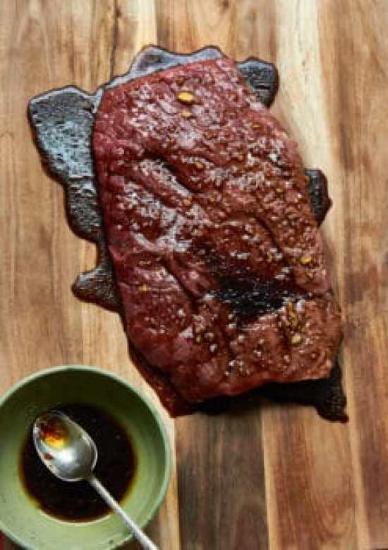 Grilled Marinated London Broil / Mia / Katie Workman / themom100.com