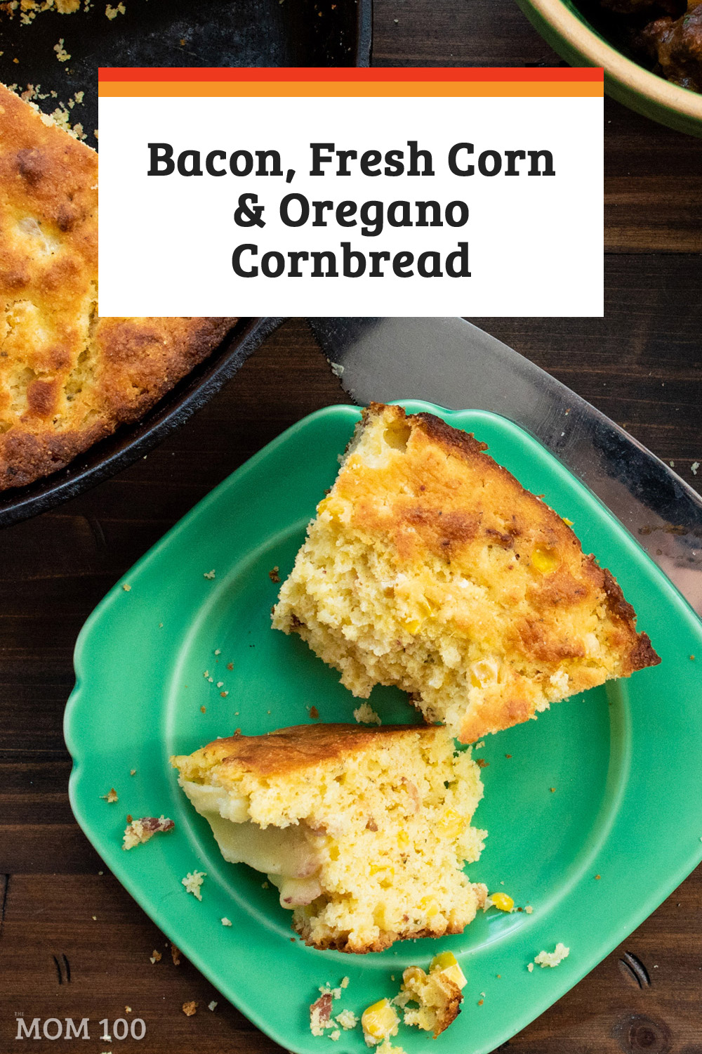 Bacon, Fresh Corn and Oregano Cornbread. A great way to make use of extra ears of corn - also: bacon!  Crisp up some extra strips for this.