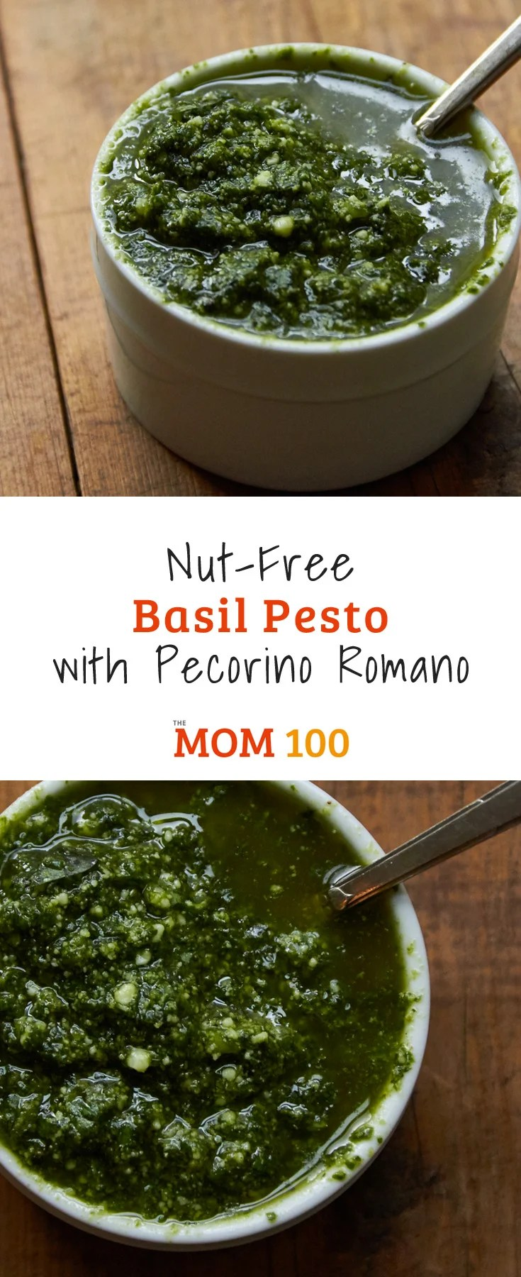 This Nut-Free Basil Pesto with Pecorino Romano is for all the pesto lovers out there, including the ones who are allergic to nuts (like me!)