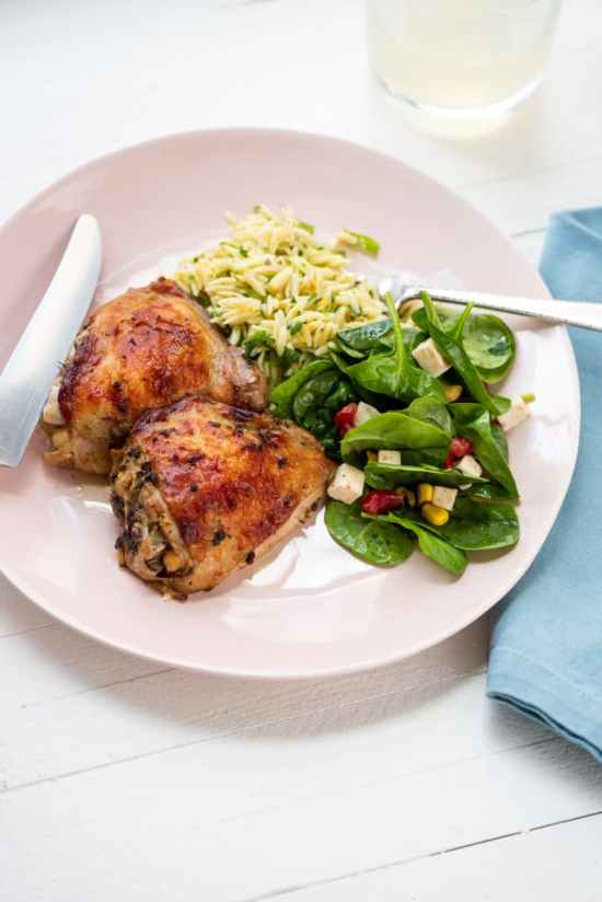 Greek Roasted Chicken Thighs The Mom 100