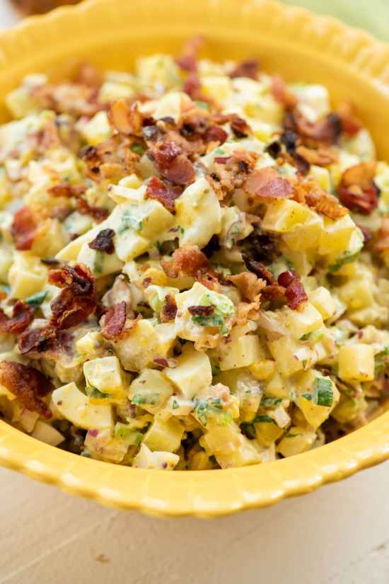 Egg and Potato Salad with Bacon / Cheyenne Cohen / Katie Workman / themom100.com