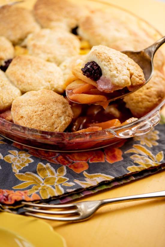 peach cobbler with refrigerated biscuits