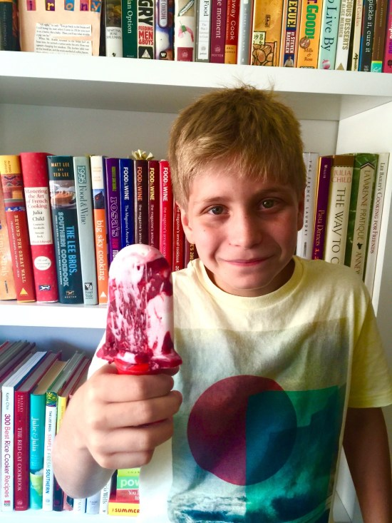 Charlie with his Yogurt-Berry Pop