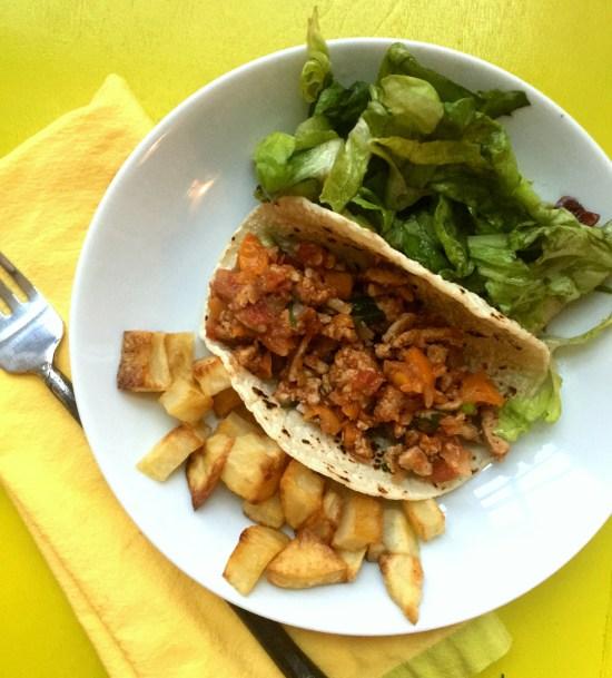 Picadillo Taco from Katie Workman/ themom100.com