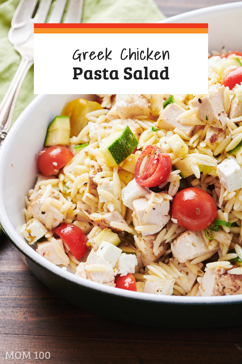Greek Chicken Pasta Salad: This is a chockablock pasta salad filled with all of the things you love in Greek salad, plus chicken (or skip the chicken and make a vegetarian version!)
